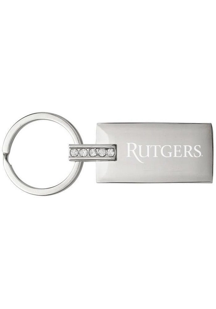 Rutgers Scarlet Knights Jeweled Keychain - Image 1