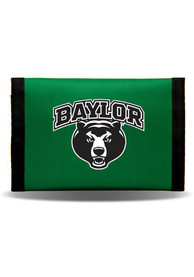 Baylor Bears Nylon Trifold Wallet - Green