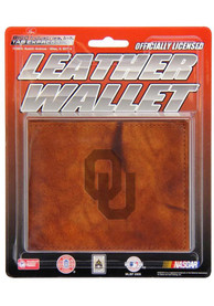 Oklahoma Sooners Manmade Leather Bifold Wallet - Brown