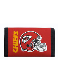 Kansas City Chiefs Nylon Trifold Wallet - Red