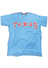 Texas Rangers Light Blue Contrast Stitch Fashion Tee