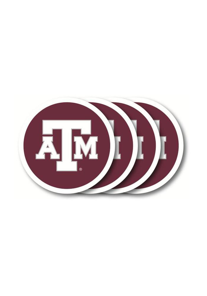 Texas A&M Aggies 4pk Vinyl Coaster - Image 1