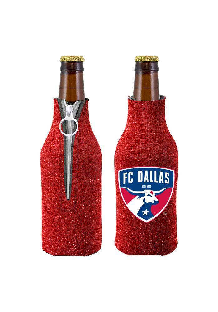 FC Dallas Red Glitter Bottle Koozie - Image 1