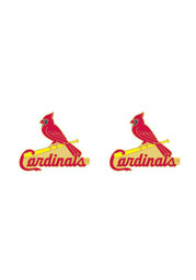 St Louis Cardinals Womens Logo Post Earrings - Red
