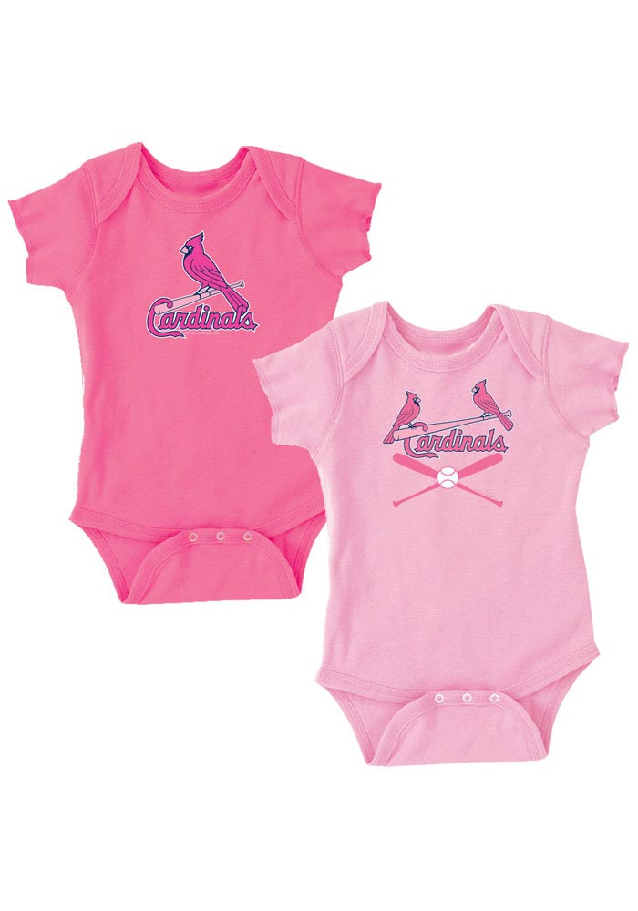 St Louis Cardinals Baby Pink Infant 2 Pack Creepers Set Creeper 22650004