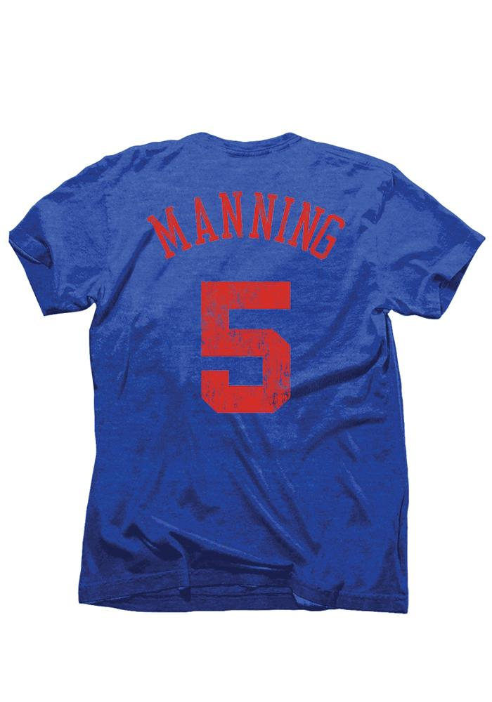 Danny Manning Los Angeles Clippers Blue Tri-Blend Short Sleeve Player T Shirt - Image 2
