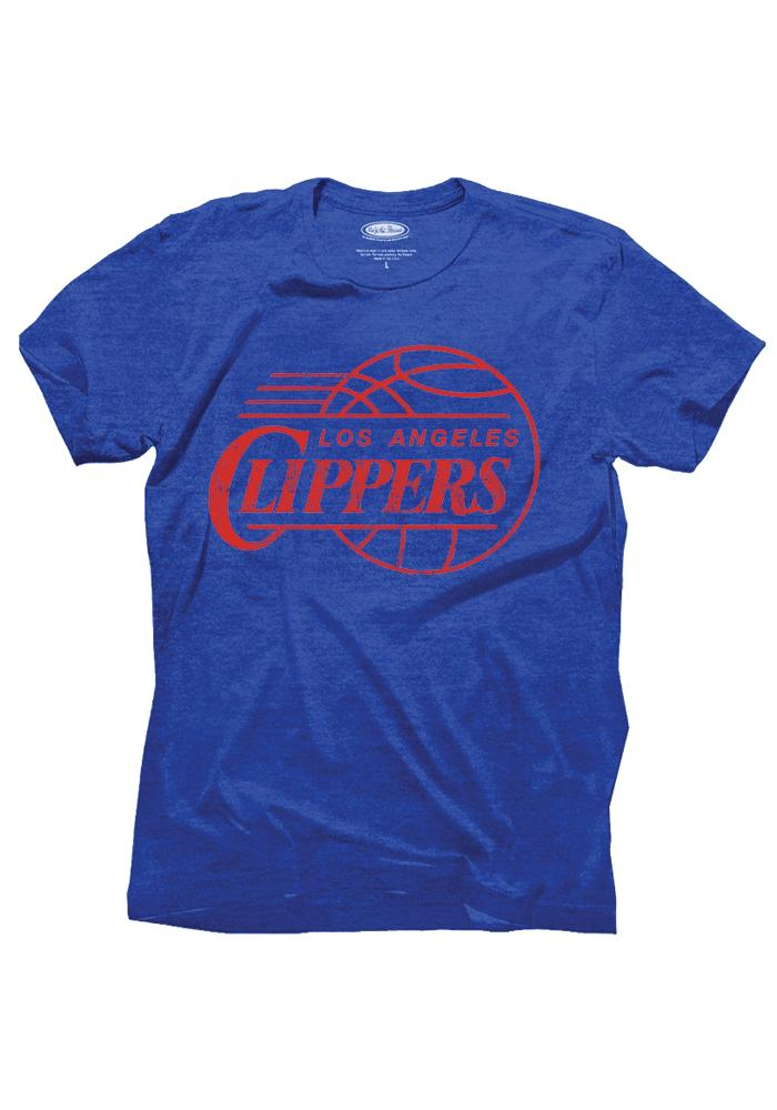 Danny Manning Los Angeles Clippers Blue Tri-Blend Short Sleeve Player T Shirt - Image 3
