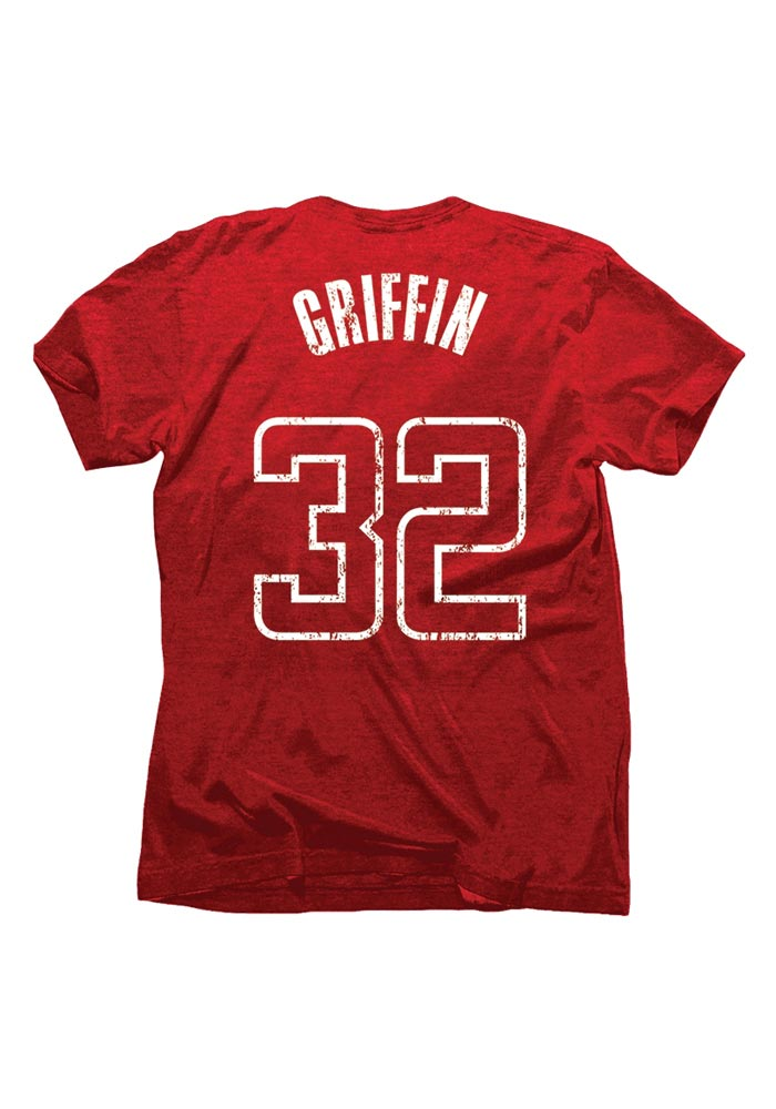Blake Griffin Los Angeles Clippers Crimson Tri-Blend Short Sleeve Player T Shirt - Image 1