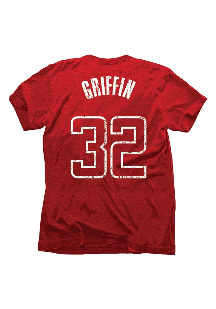 Blake Griffin Los Angeles Clippers Crimson Tri-Blend Short Sleeve Player T Shirt - Image 2