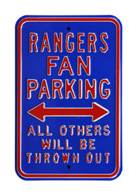Texas Rangers Parking Only Sign