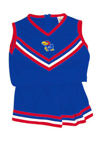 Kansas Jayhawks Toddler Girls Blue Mascot Cheer