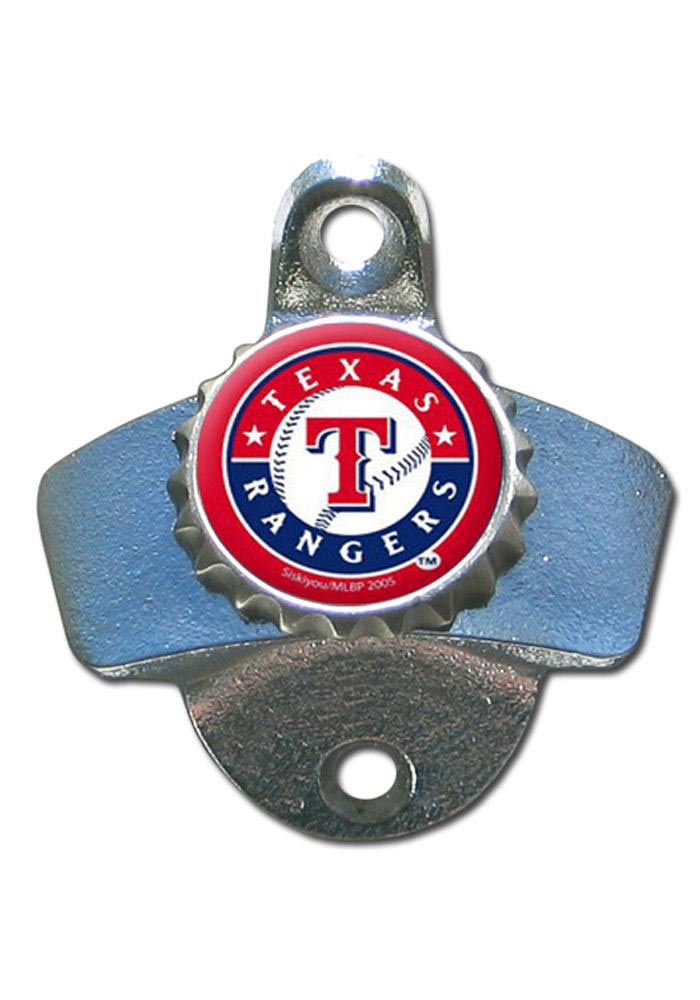 Texas Rangers Silver, Red Wall Mount Bottle Opener - Image 1