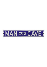 TCU Horned Frogs Man Cave Street Sign