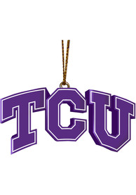 TCU Horned Frogs 3D Logo Ornament