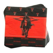 Texas Tech Red Raiders 25 Pack Beverage Napkins