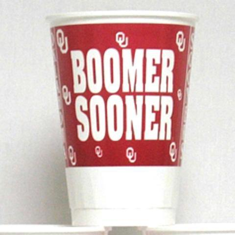 Oklahoma Sooners 8pk 16oz Disposable Cups - Image 1