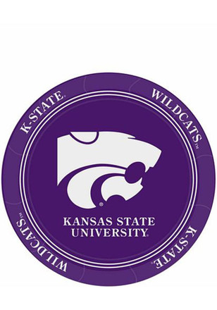 K-State Wildcats 7 Inch 8 Pack Paper Plates