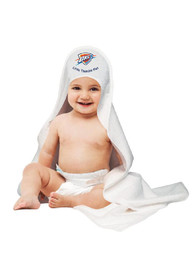Oklahoma City Thunder Baby Hooded Bath Towel Bath Accessory - White