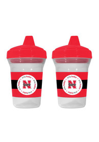 Nebraska Cornhuskers Baby 2-Pack 5 oz. Bottle - Red