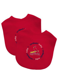 St Louis Cardinals Baby 2 Pack Bib - Red