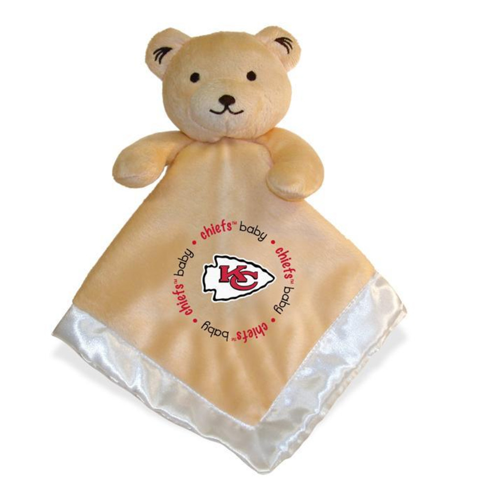 Kansas City Chiefs Security Bear Baby Blanket - Image 1