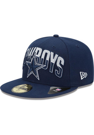 Dallas Cowboys Mens Navy Blue 2013 Draft Fitted Hat