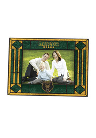 Baylor Bears Art-Glass Horizontal Picture Frame