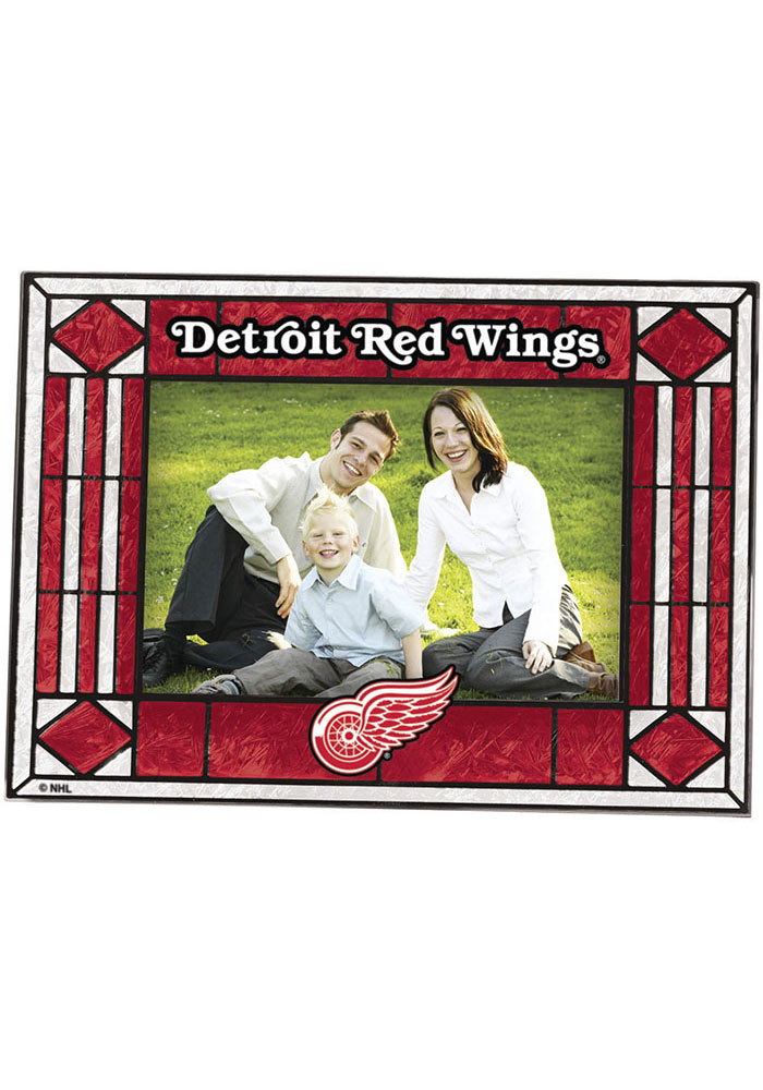 Detroit Red Wings Art-Glass Horizontal Picture Frame - Image 1