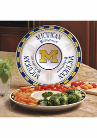 Michigan Wolverines Ceramic Chip and Dip Serving Tray
