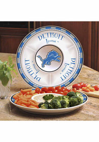 Detroit Lions Ceramic Chip and Dip Serving Tray