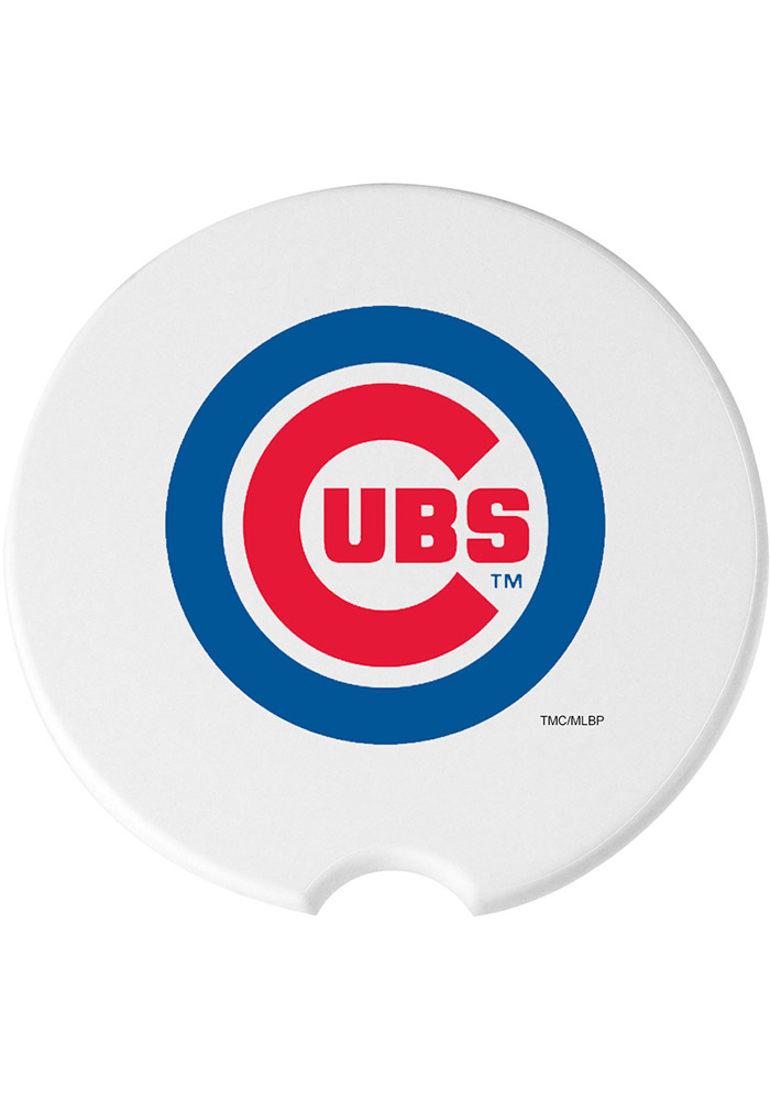 Chicago Cubs 2 Pack Car Coaster - White - Image 1