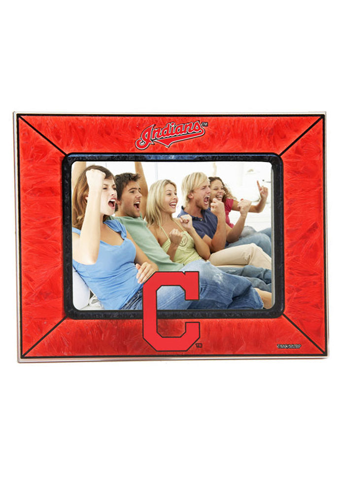 Cleveland Indians 4x6 Art Glass Horizontal Picture Frame - Image 1