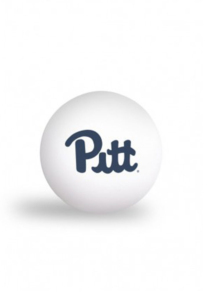 Pitt Panthers 6 Pack Ping Pong Balls, White, PLASTIC