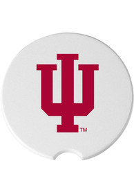Indiana Hoosiers 2 Pack Car Coaster - White