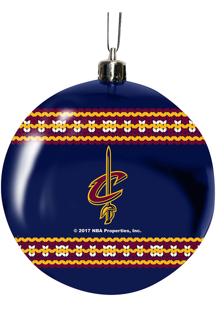 Cleveland Cavaliers 3g Ugly Sweater Ball Ornament - Image 1