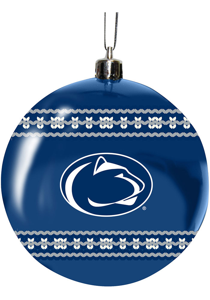Penn State Nittany Lions 3 Ugly Sweater Ball Ornament - Image 1
