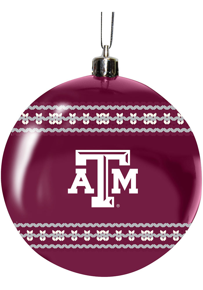 Texas A&M Aggies 3g Ugly Sweater Ball Ornament - Image 1