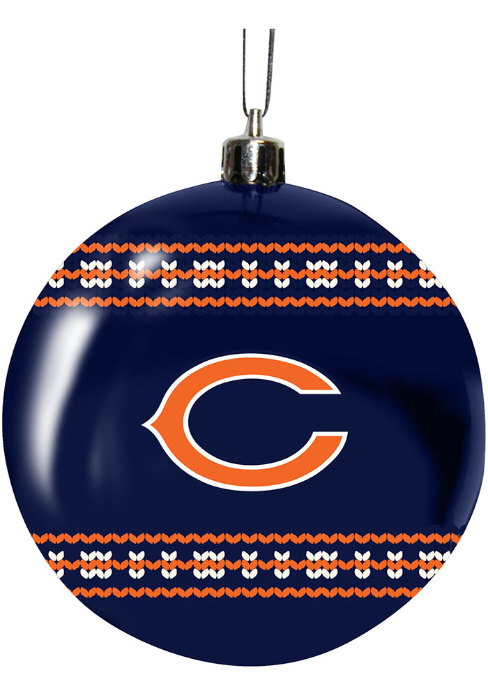 Chicago Bears 3g Ugly Sweater Ball Ornament - Image 1