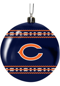 Chicago Bears 3 Ugly Sweater Ball Ornament