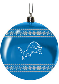 Detroit Lions 3 Ugly Sweater Ball Ornament
