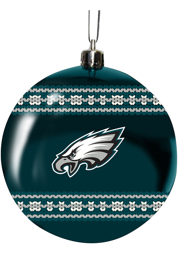 Philadelphia Eagles 3 Ugly Sweater Ball Ornament - Image 1