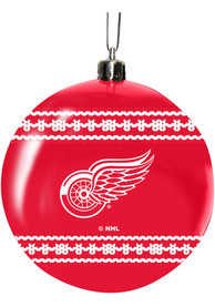 Detroit Red Wings 3 Ugly Sweater Ball Ornament