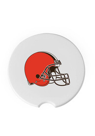 Cleveland Browns 2 Pack Car Coaster - White
