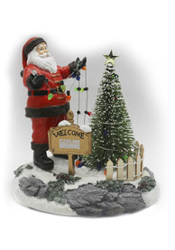 Cleveland Browns 7 Santa Stringing Lights Decor