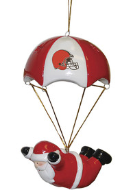 Cleveland Browns Skydiving Santa Ornament