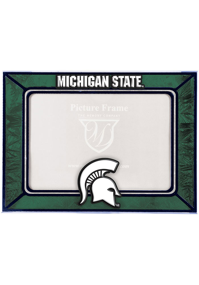 Michigan State Spartans 6.5x9 inch Horizontal Art Glass Picture Frame