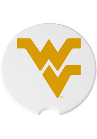 West Virginia Mountaineers 2 Pack Car Coaster - White
