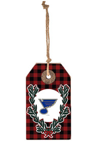 St Louis Blues Gift Tag Ornament