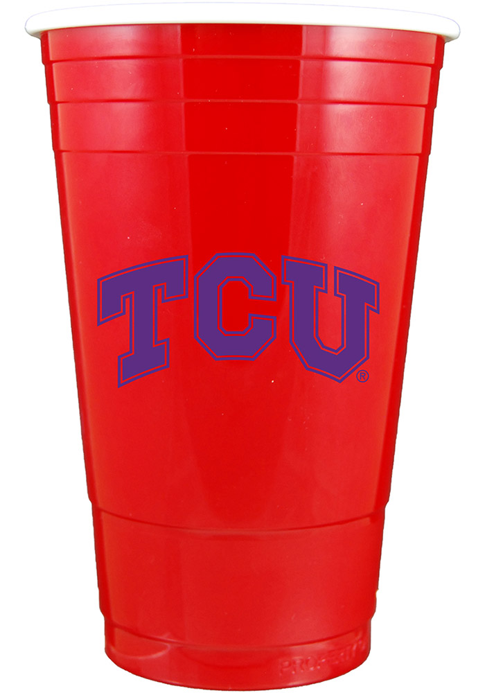 TCU Horned Frogs Double Walled Plastic Plastic Drinkware - Image 1