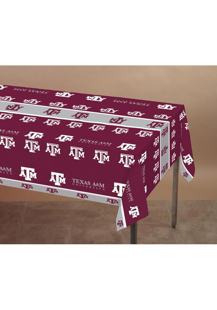 Texas A&M Aggies Plastic Tablecloth - Image 1